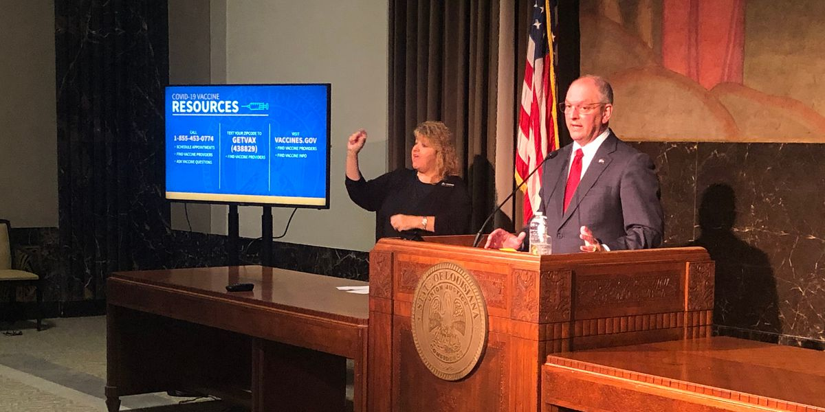 Gov. Edwards urges residents to get COVID-19 vaccine ahead of President Biden's visit to La.