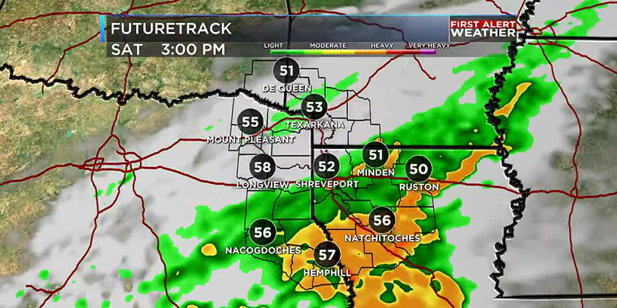 Soggy Saturday and a cool down coming next week