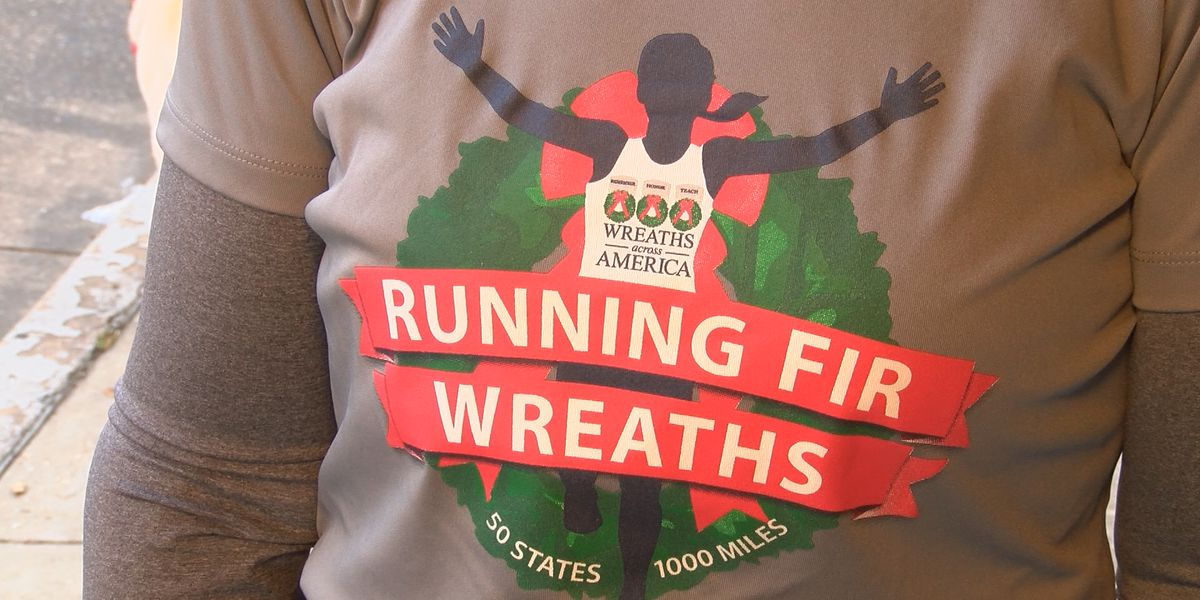 Gold Star Mom running across the country for Wreaths Across America program