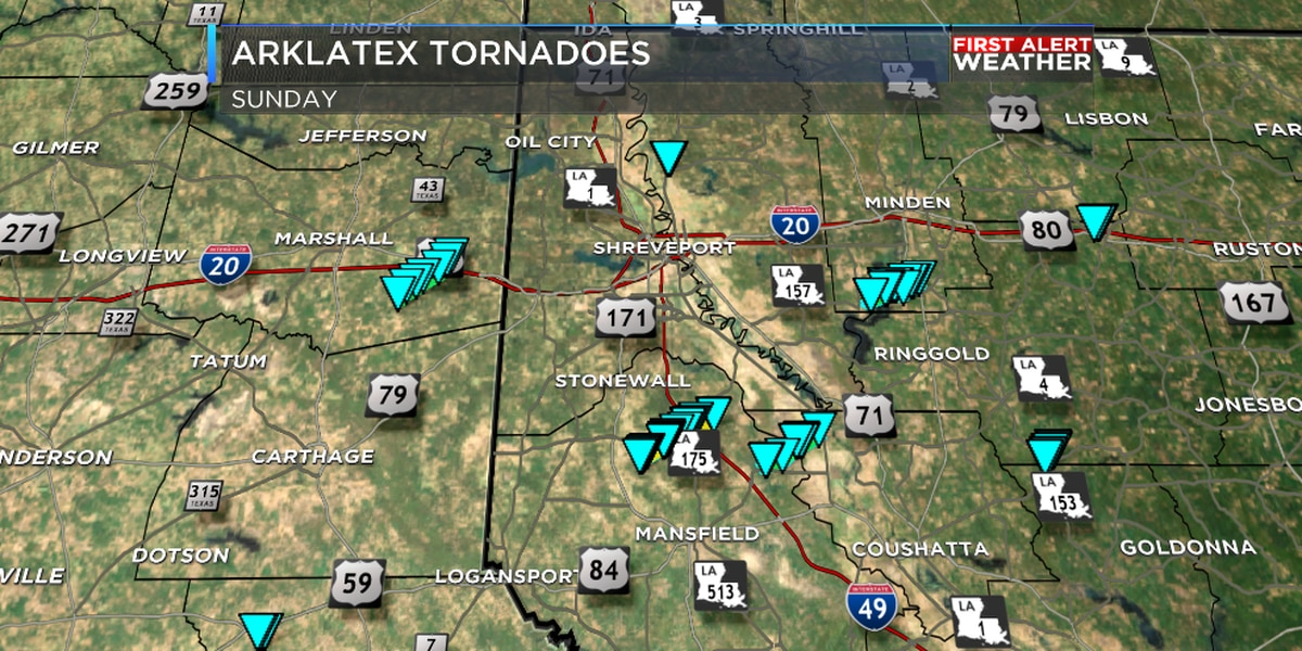 Easter Sunday storms produce 8 ArkLaTex tornadoes
