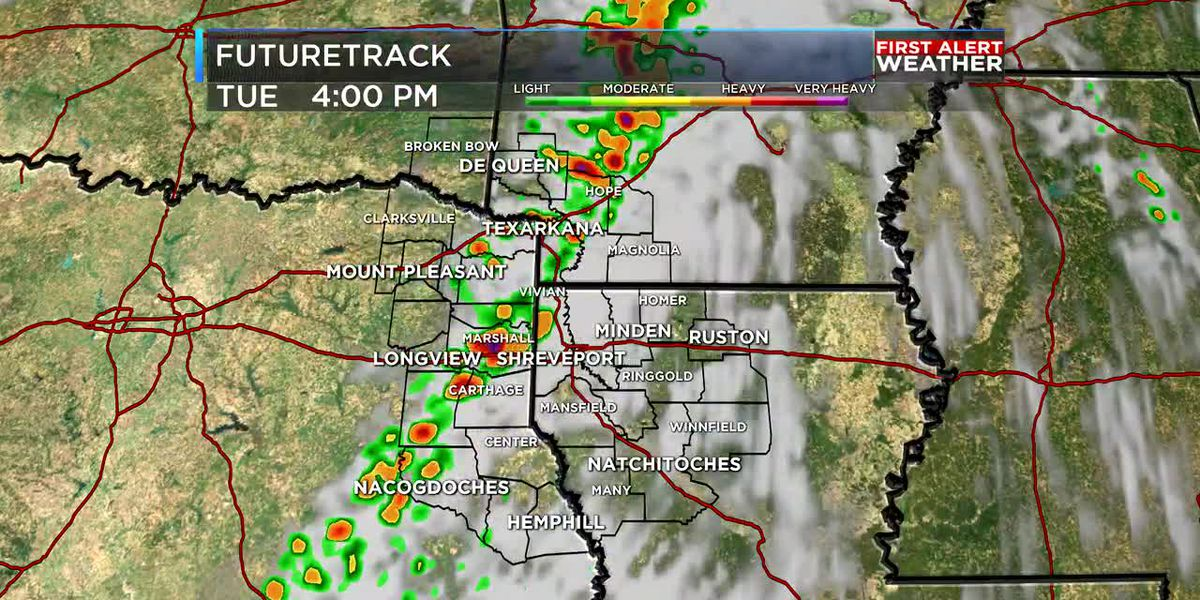 FutureTrack: Line of strong storms moves through Tuesday