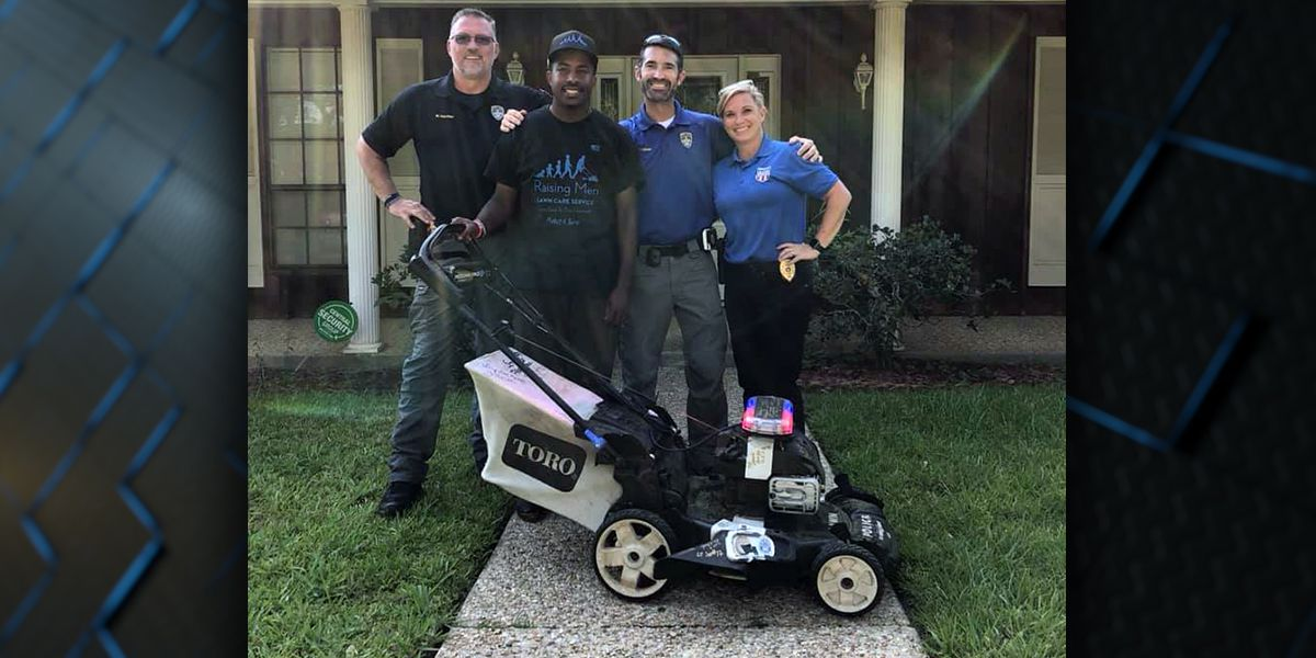 Man mowing lawns across country makes Baton Rouge stop