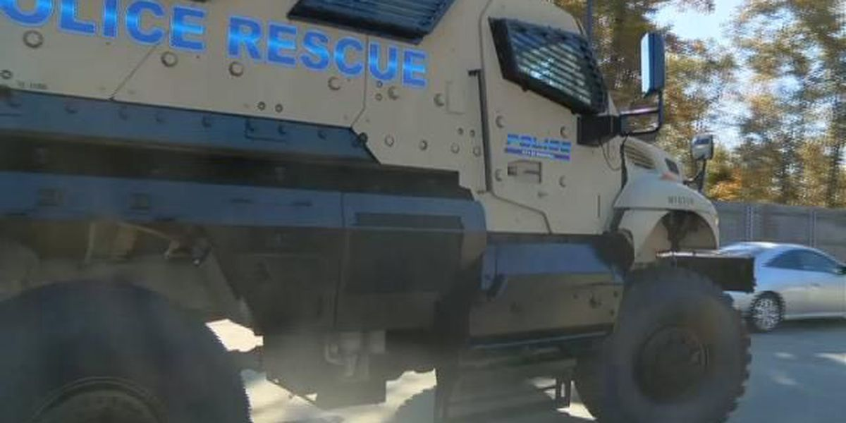 Marshall, TX, police show off their first armored vehicle