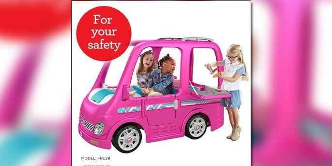 Fisher-Price recalls Power Wheels Barbie Campers