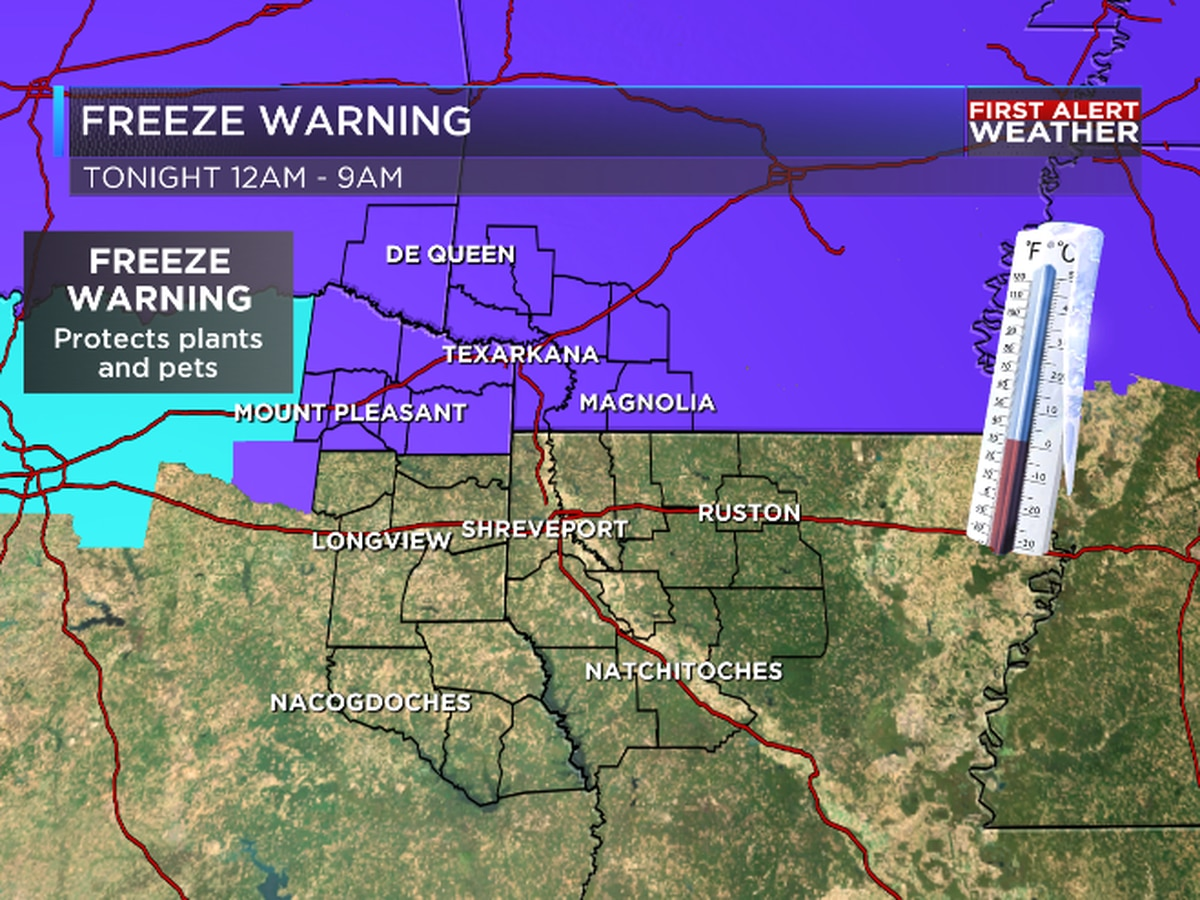FIRST ALERT: Freeze Warning issued for tonight