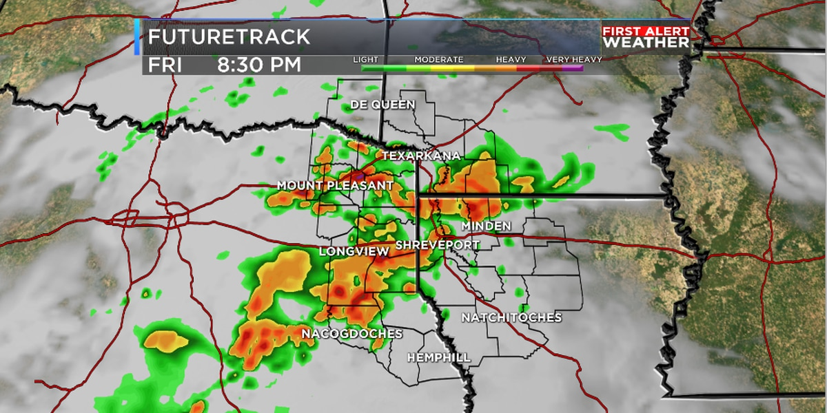Wet end to week for ArkLaTex