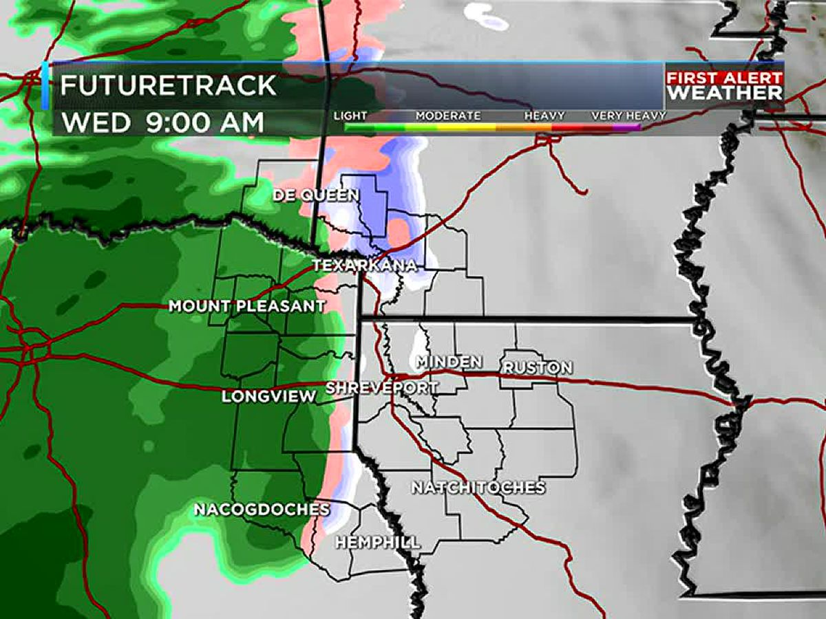 Wintry mix expected Wednesday morning, then drying out in time for the weekend