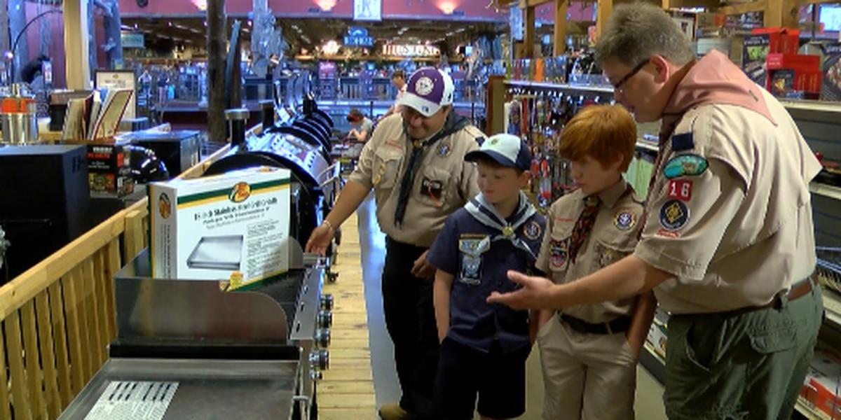 Bass Pro Shops joins community effort to help Cub Scouts whose gear was stolen