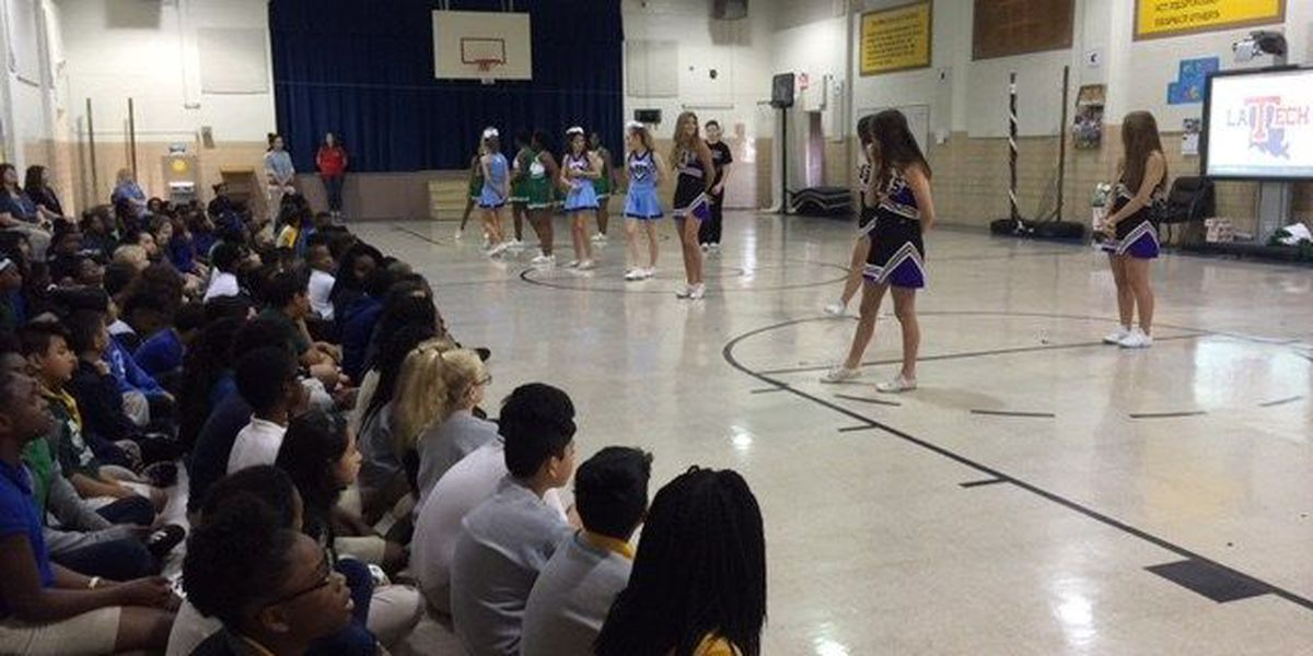 Pep rally helps students mentally prepare for LEAP test
