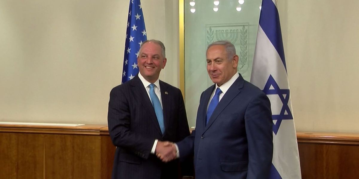 La. governor meets with Israeli prime minister