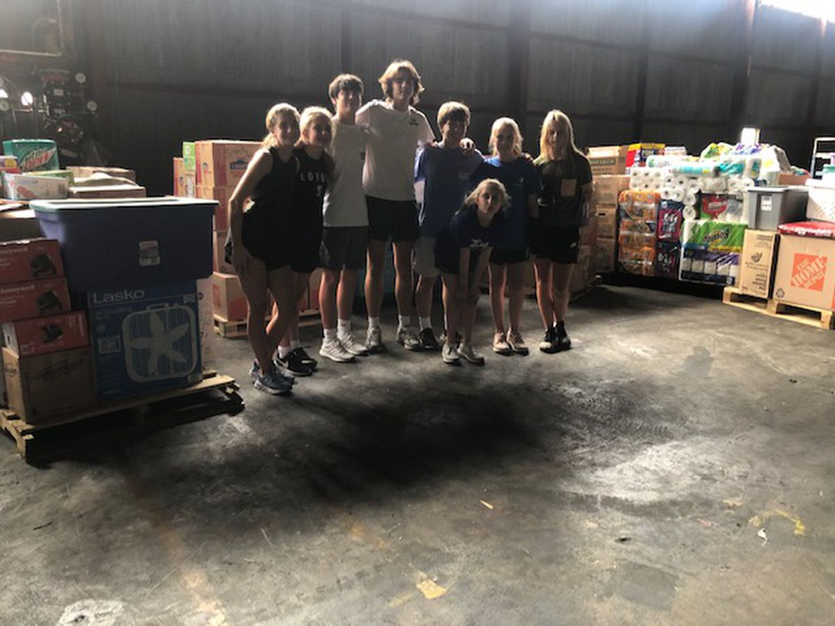 Shreveport students deliver supplies to south Louisiana