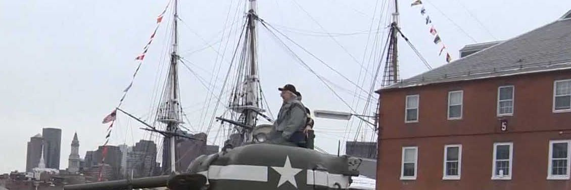 95-year-old WWII tank ace takes nostalgic ride through Boston