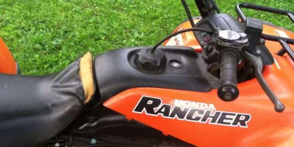 Someone steals 4-wheeler, trailer, bush hog from camp