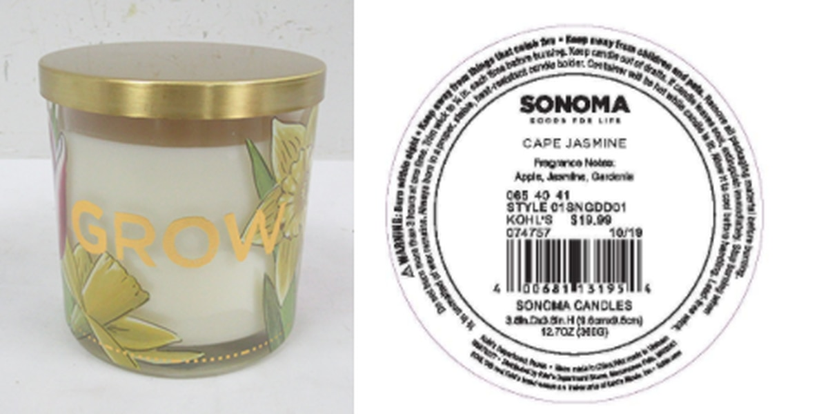 Kohl's recalls 500K candles after burn, minor property damage reported