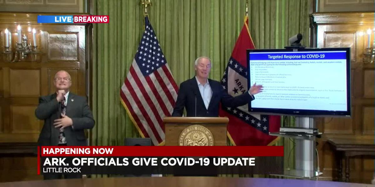RECORDED : Gov. Hutchinson and ADH with the latest on COVID-19 in Arkansas - 4/4