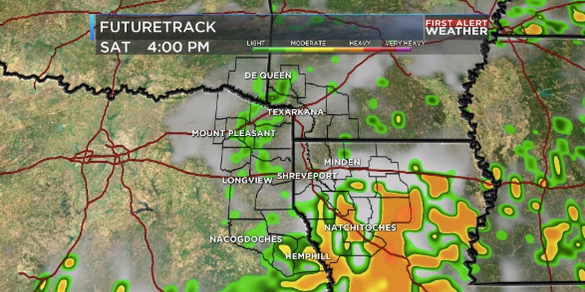 Scattered wet weather continues for ArkLaTex