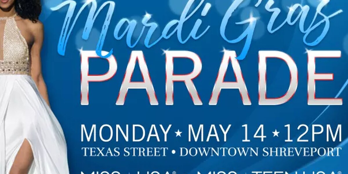 Mardi Gras in May parade with Miss USA contestants