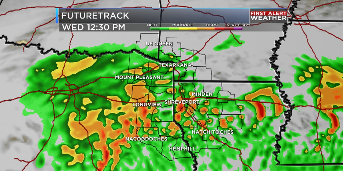 Wet and stormy Wednesday for ArkLaTex