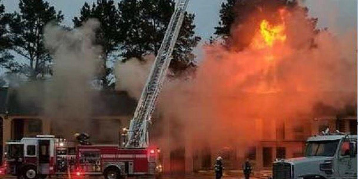 Fire damages Marshall motel