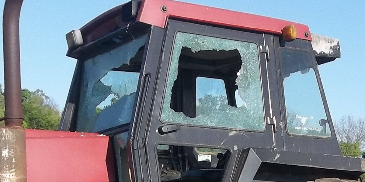 BPSO seek suspects who busted windows out of tractors