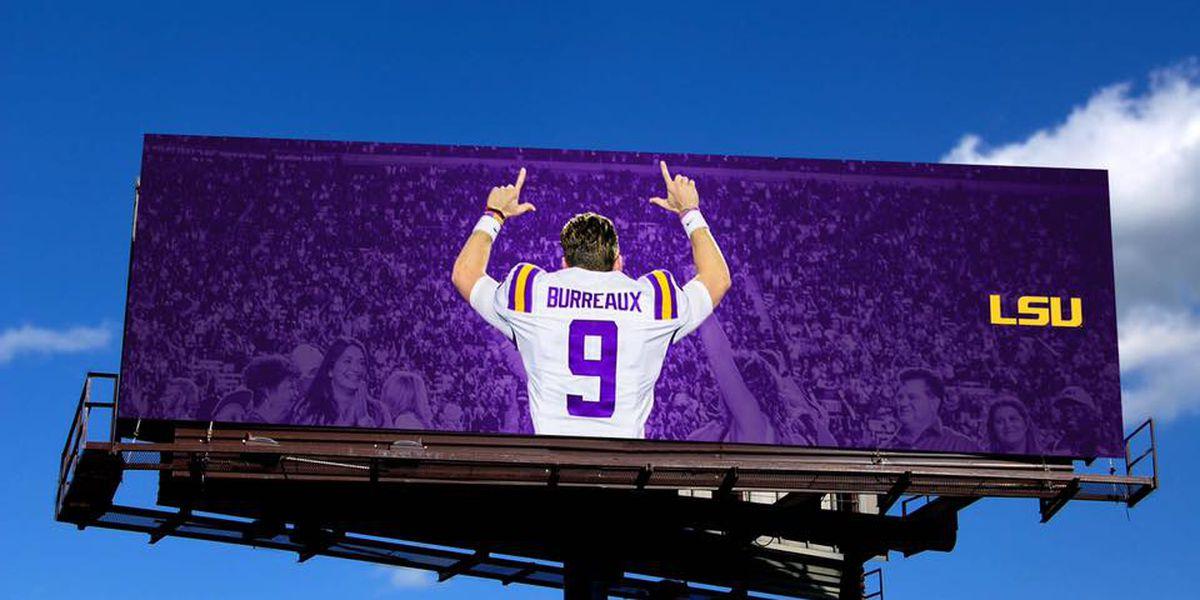 Burreaux billboards go up around Baton Rouge