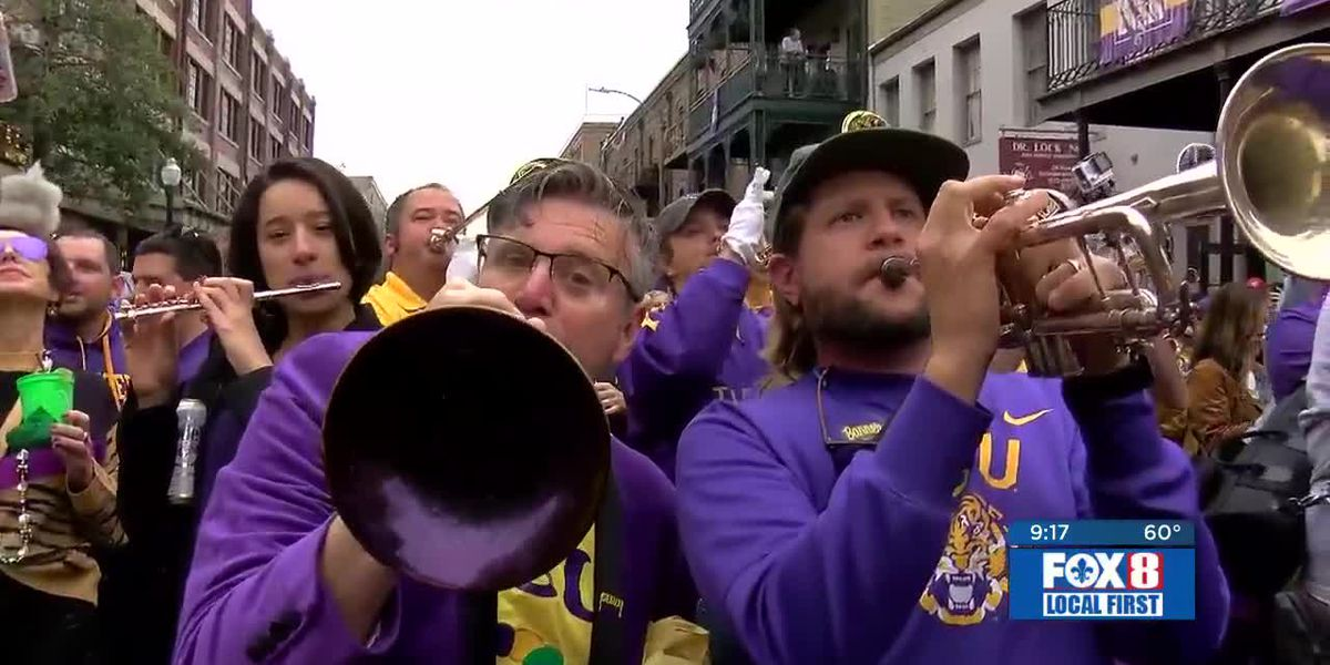 Tigerland Band alums take to the streets for a National Championship reunion