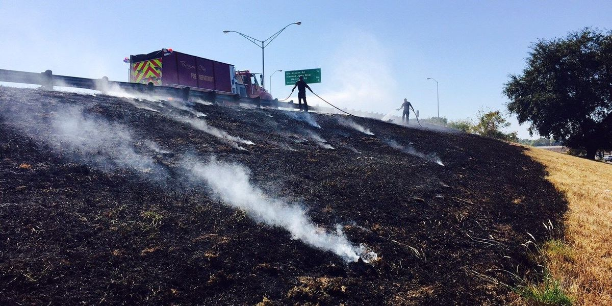 Grass fires doused on I-20 near Airline Dr.