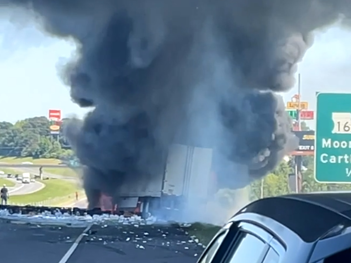 One dead after fiery truck crash on I-20