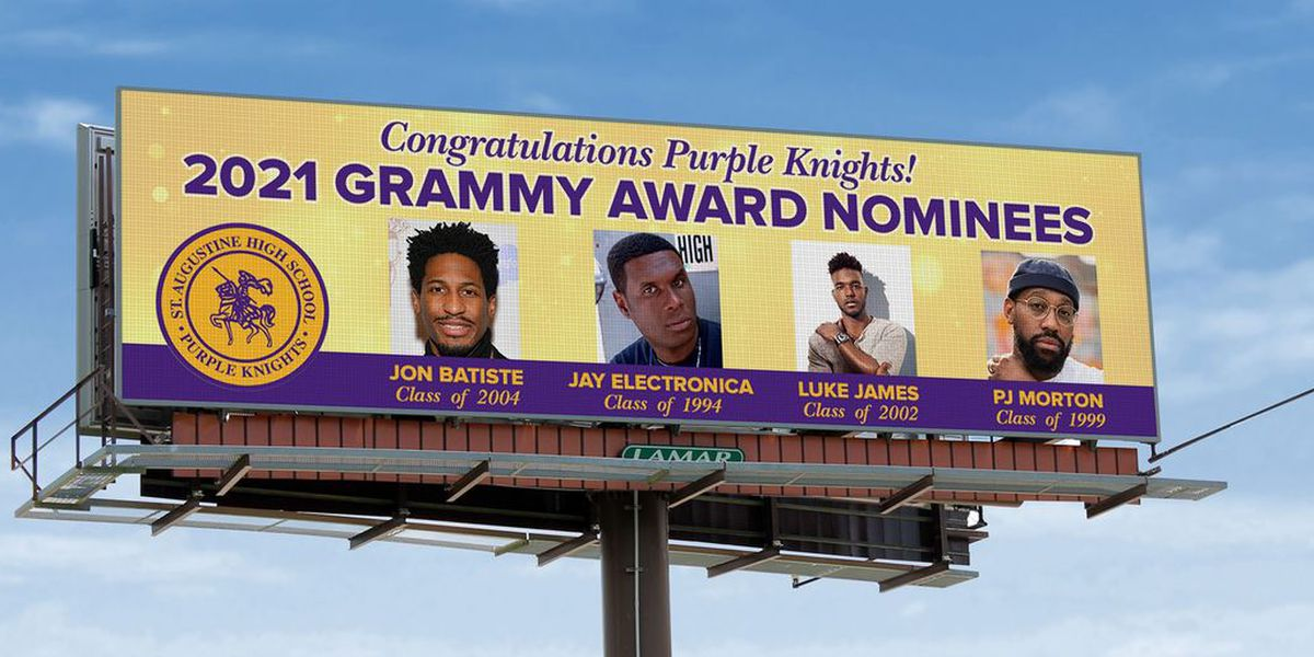 Billboards go up congratulating St. Augustine alums on Grammy nominations