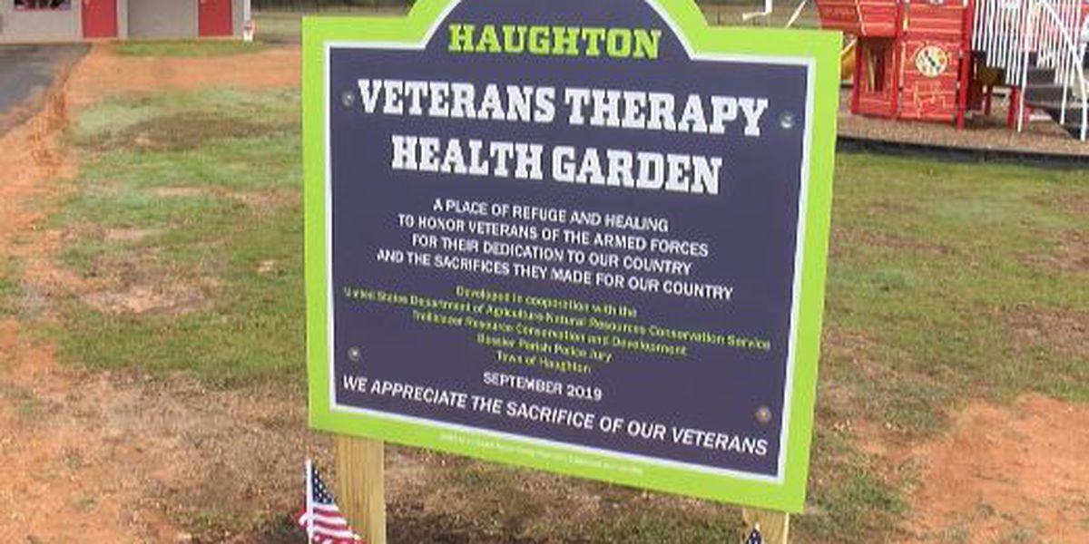 KSLA Salutes: Haughton opens Veterans Therapy Health Garden, Walking Trail