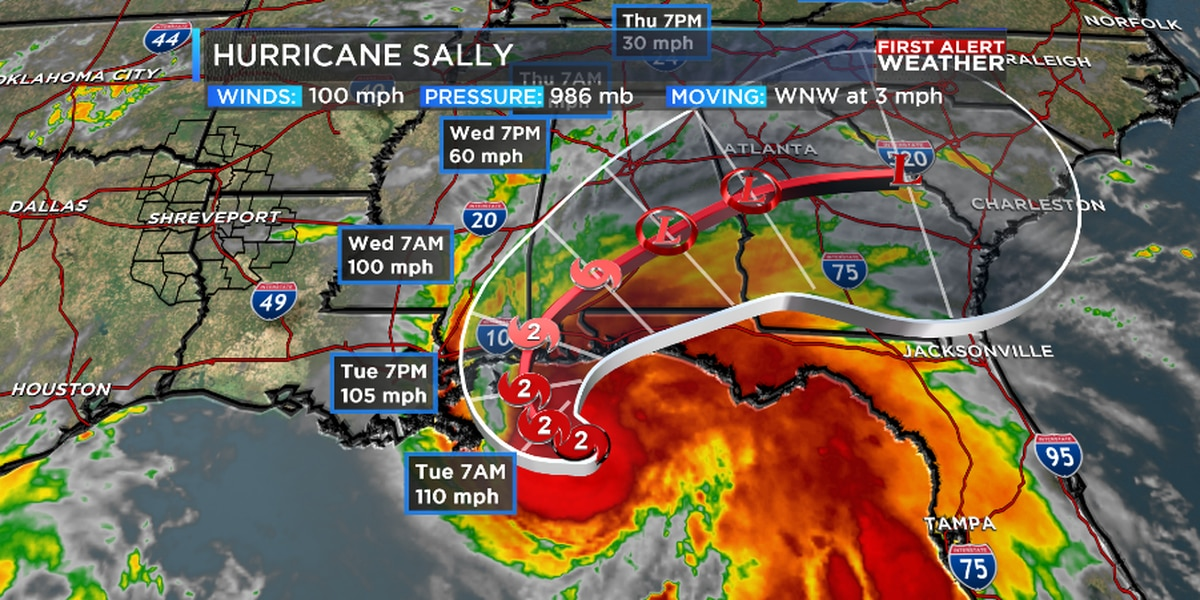 Tracking Sally and potentially cooler weather
