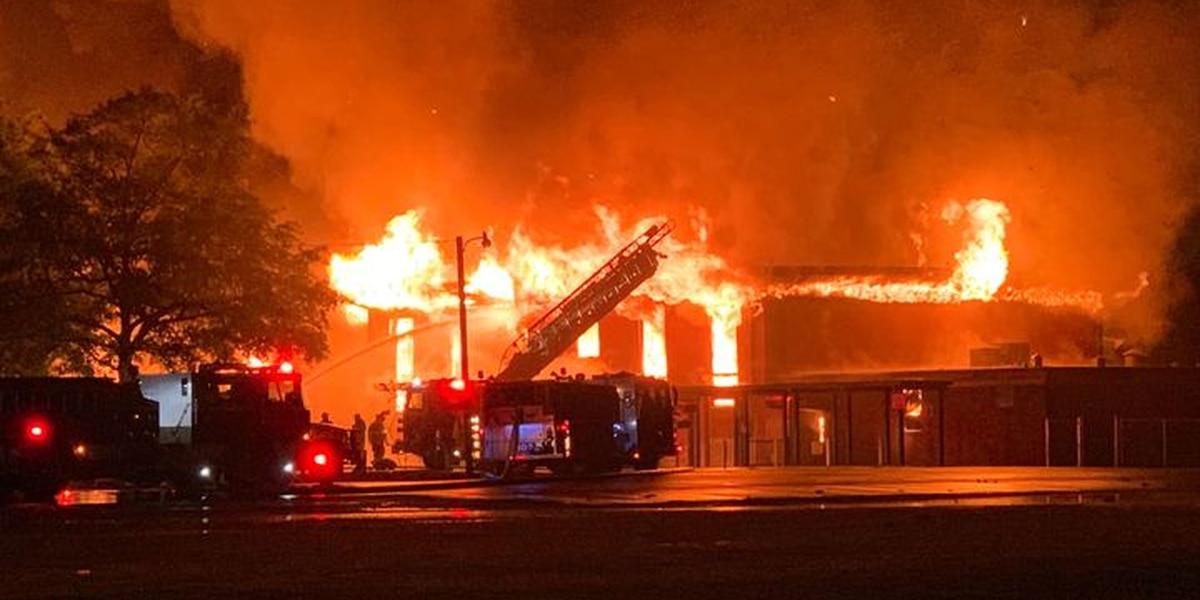 School consumed by massive blaze burns to ground in Ouachita Parish
