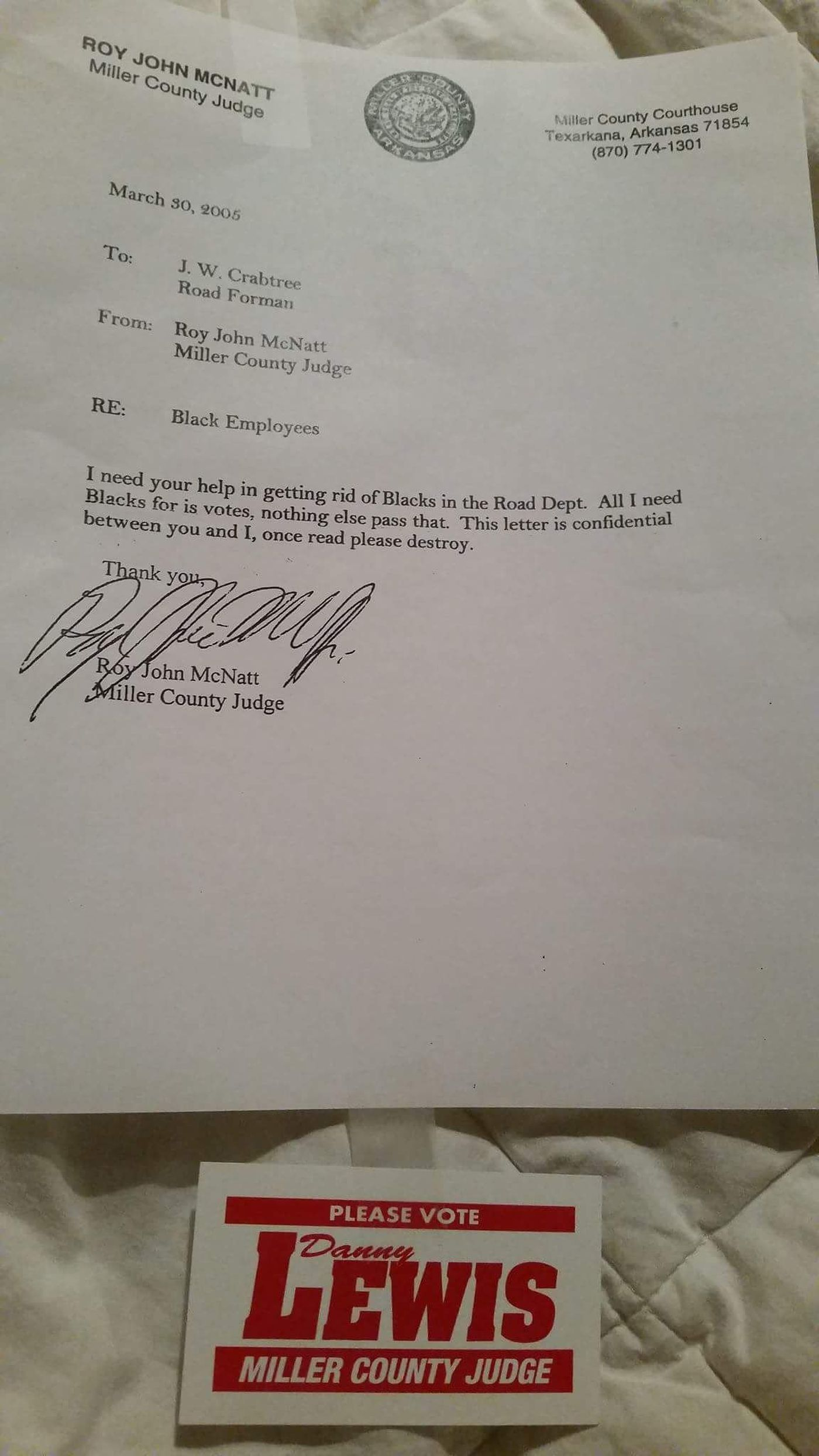 Bogus letters could sway Miller County voters