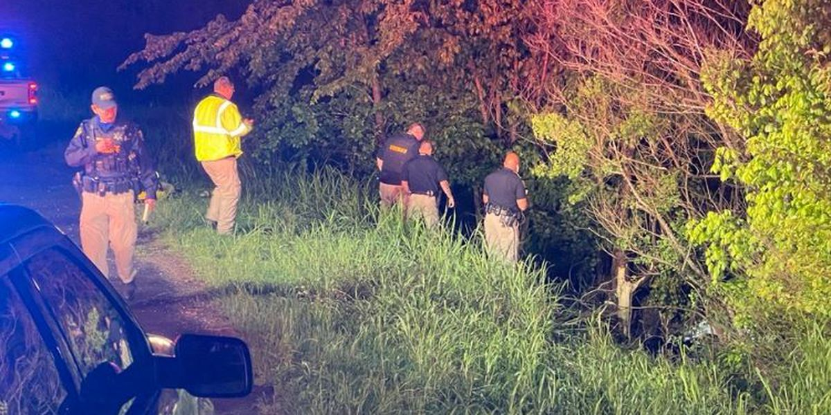 Car plunges into ravine, seriously hurting man