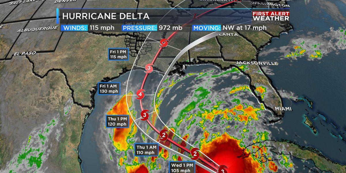 Hurricane Delta headed for Louisiana, plus slight warmer in the ArkLaTex