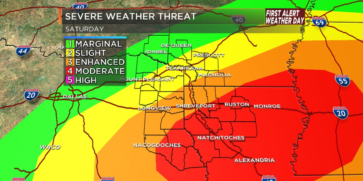 FIRST ALERT WEATHER DAY: Severe weather outbreak likely Saturday