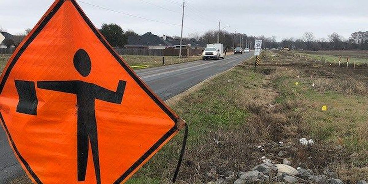 Construction started to widen Wemple Road in Bossier City