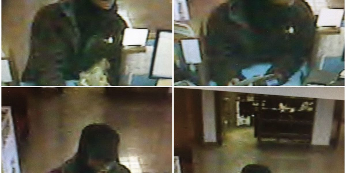 Surveillance photos released of suspect sought in USPS Credit Union robbery
