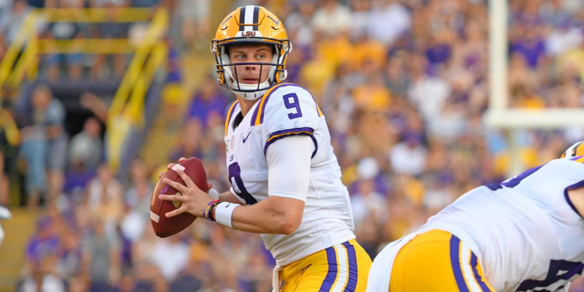 Burrow tosses 5 TDs in unveiling of new offense, as No. 6 LSU cruises past Georgia Southern