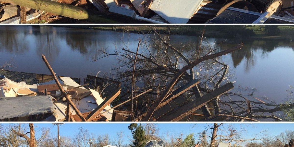 Tornado-stricken Natchez cleaning up