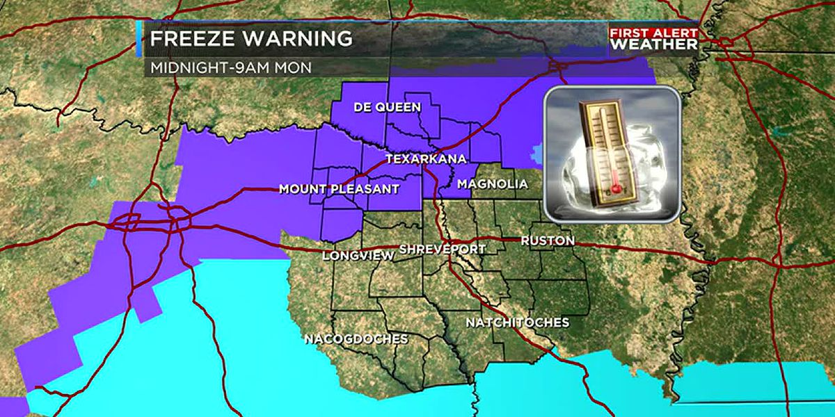 First Alert Freeze Warning goes in effect tonight