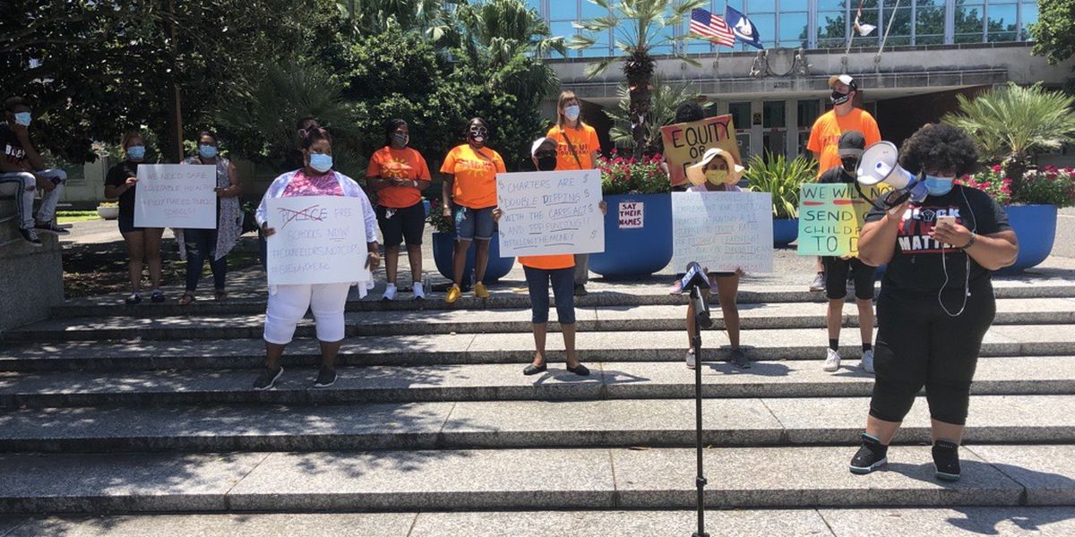 VIDEO: New Orleans parents rally to demand safe reopening of schools