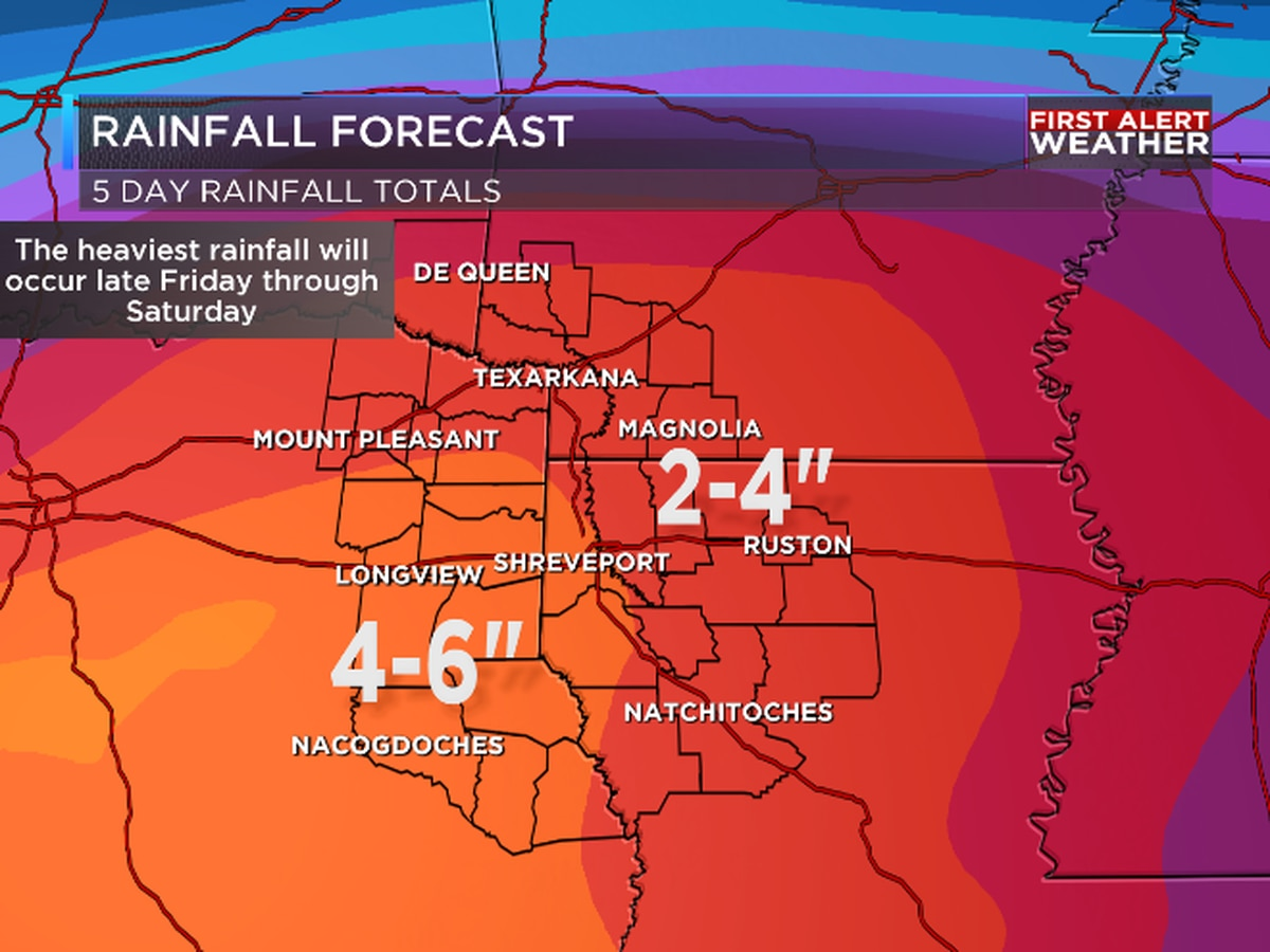 FIRST ALERT: Threat of heavy rain and flooding increasing late this week