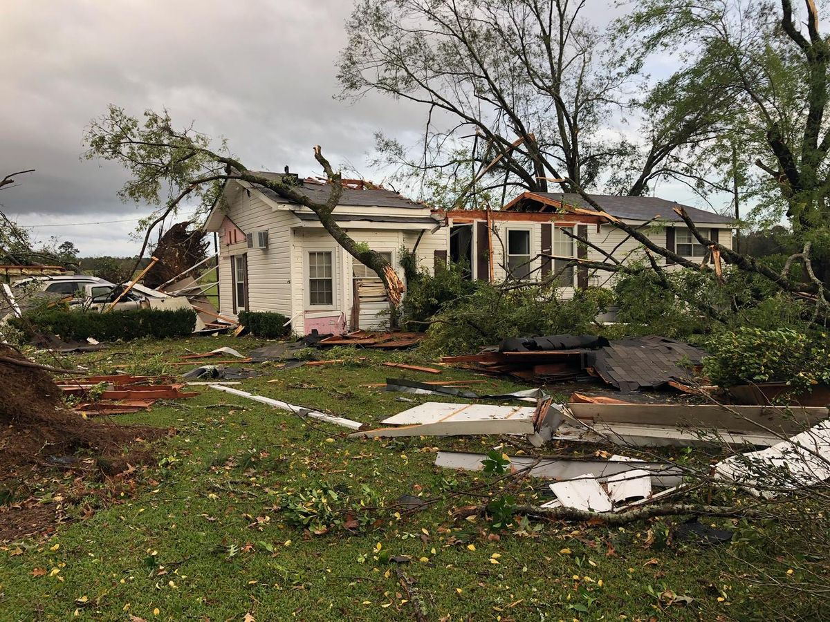 Marthaville area residents pick up pieces in wake of possible tornado