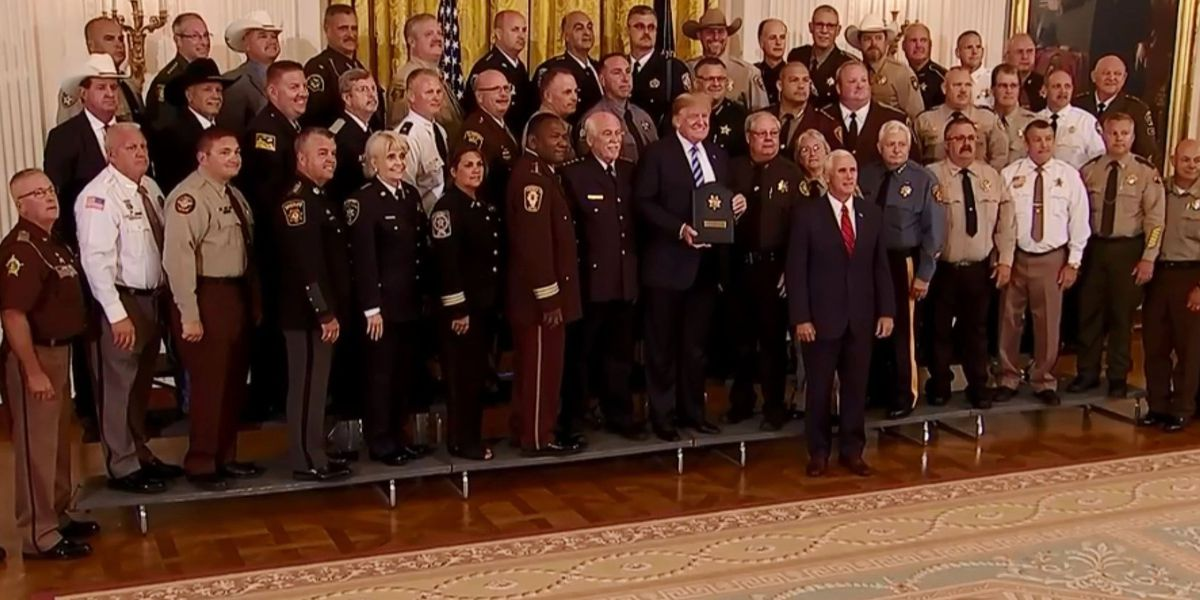 Sheriffs, including Bossier's Julian Whittington, meet with President Trump