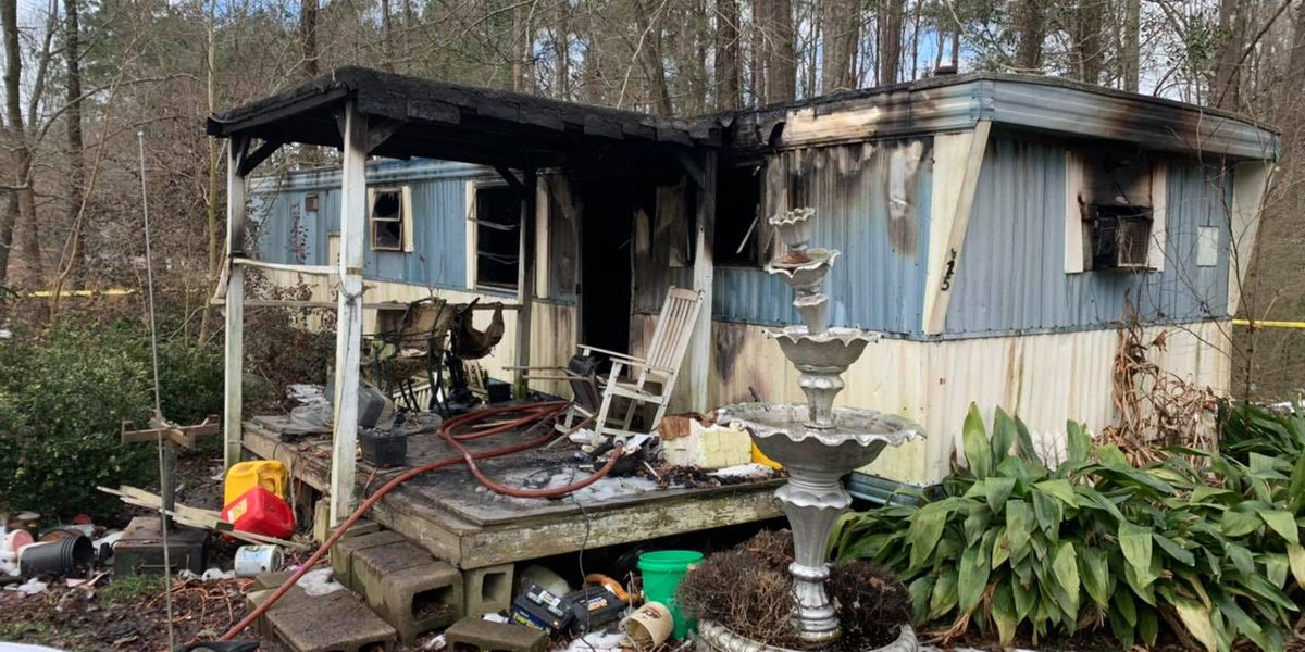 Mobile home fire claims a life