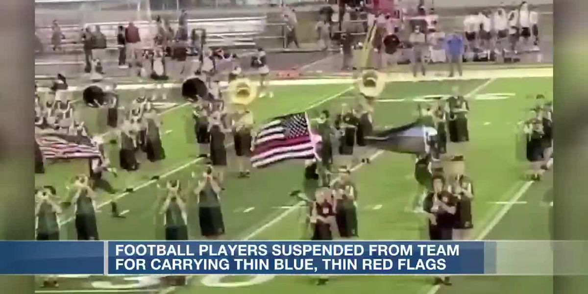 Little Miami football players suspended after carrying thin blue line, thin red line flags onto fiel