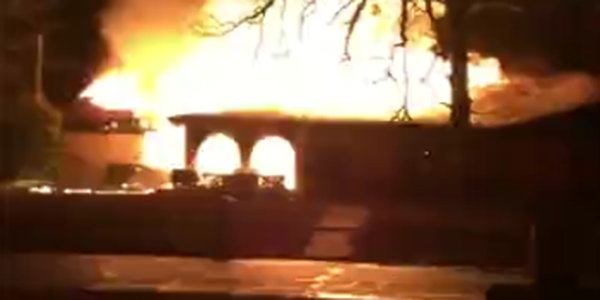 Residents question what sparked blaze that gutted vacant house
