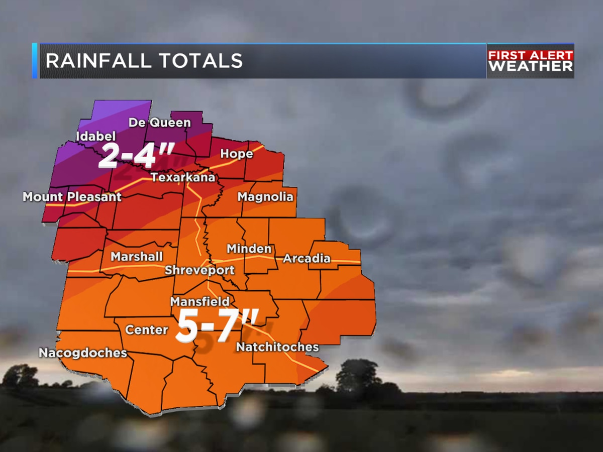 FIRST ALERT: Excessive rainfall totals upwards of 7 inches possible