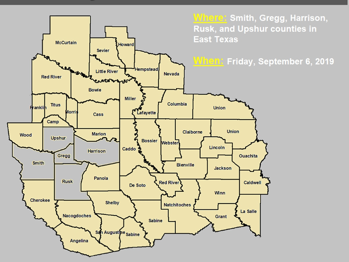 Ozone warning issued for East Texas